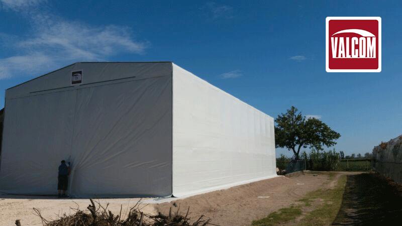 Valcom per il Gruppo Mazzoni: un nuovo capannone in pvc per il deposito della frutta