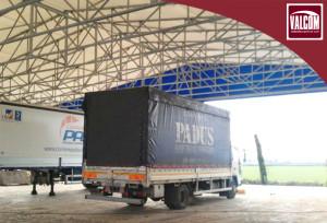 Realizzazione capannone Valcom per corriere Padus