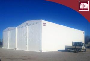 Capannoni mobili telo PVC Valcom presso Halo Udine