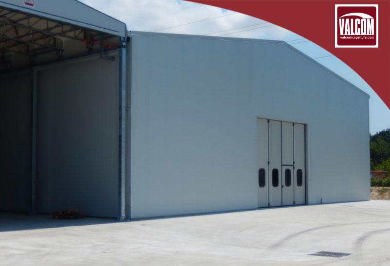 Nuova tettoia in telo e capannone in pannelli per la carta igienica Polifra.