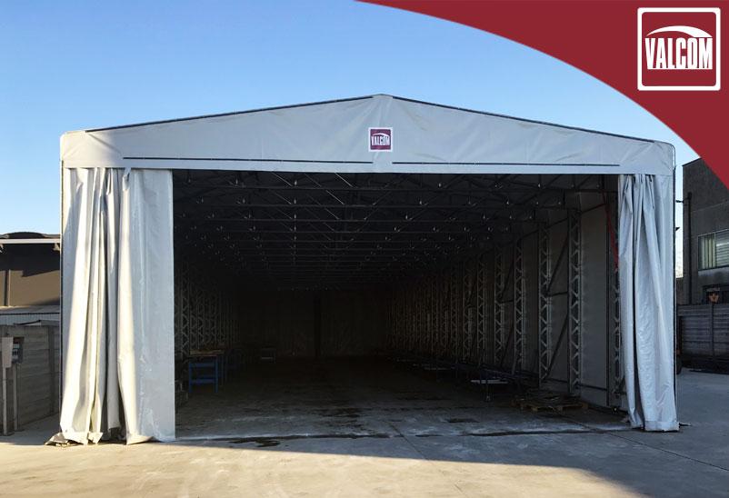 Un altro successo, un capannone in PVC Valcom a Padova per Fabris Srl
