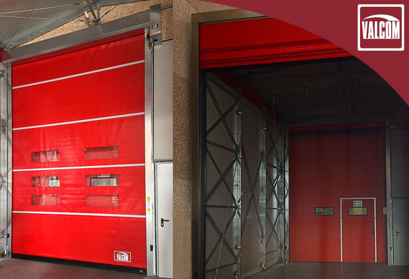 Porte rapide per ottimizzare la movimentazione merci dell'azienda che si occupa di pulizia industriale