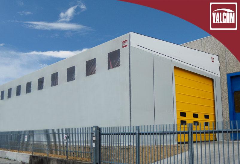 Una copertura laterale Valcom per l'azienda Phyto Garda a Verona