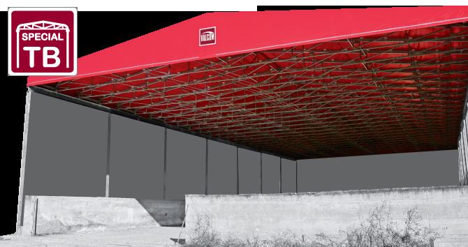 coperture mobili capannoni in pvc