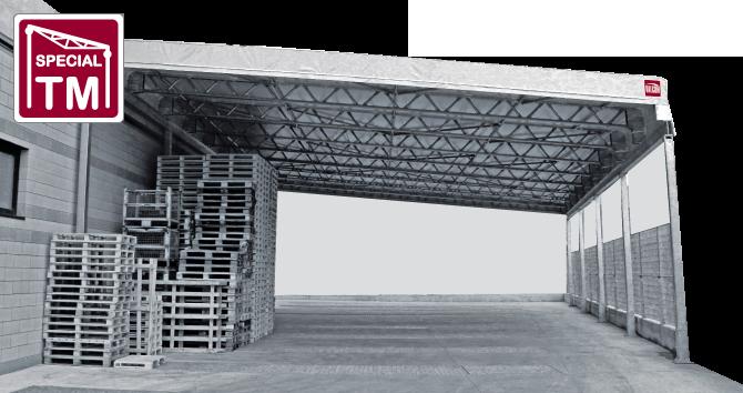 coperture mobili e tettoie industriali