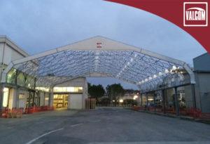 copertura in pvc hangar